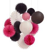 14pcs paper lantern honeycomb ball pom pom for wedding birthday party decoration