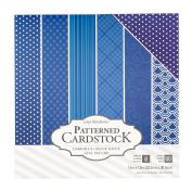 American Crafts Core'Dinations Cardstock 60 Sheet x 30cm Paper Pack Dark Blue