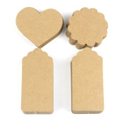 ROSENICE Gift Tags Wedding Kraft Paper Tags DIY Craft with Jute Twines 200pcs