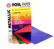 Metallic Foil Paper, 25cm x 33cm , 50 Sheets, Assorted Colours
