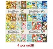 [4 Seasons Set] Ensky My Neighbour Totoro Japanese Origami(Paper with Coloured Figures) Washi Chiyogami Spring,Summer,Autumn & Winter 80sheets Total