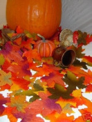 1000 Thanksgiving Halloween Wedding Artificial Fall Maple Autumn Leaves Mix Colour Sizes Great Table Scatters