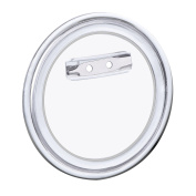 Hotop 24 Sets Design a Button, Clear Plastic Button with Pin for DIY Crafts