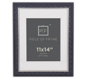 Golden State Art, 11x14 Ornate Finish Photo Frame, with Ivory Mat for 8x10 Pictures and Real Glass. Colour