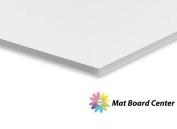 Mat Board Centre, Pack of 25 50cm x 60cm White Foam Core Backing Boards