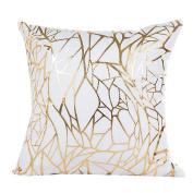 Clearance! ZOMUSA Gold Foil Printing Pillow Case Sofa Waist Throw Cushion Cover Home Decor