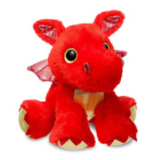 Aurora World 60858 Sparkle Tales Sizzle Dragon Soft Toy, Red, 30cm