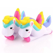 ZHUOTOP 1pcs Simulation Unicorn Squishy Soft Toy Phone Straps Decorations
