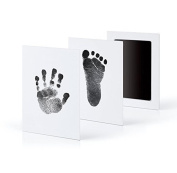 XXYsm Newborn Footprint Ink Pad Handprint Non-Toxic Clean-Touch Pearhead Inkless