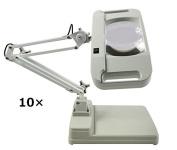 10X Magnifier LED Lamp Light Magnifying White Glass Lens Desk Table Repair
