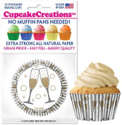 Cupcake Creations, No Muffin Pan Required Baking Cups, Cheers, 9136