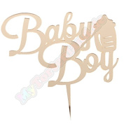 Mytorten Country Baby Boy with Milk Bottle Theme Cake Topper