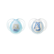 Tommee Tippee Ctn Night time Soothers 0-6 Months 2 pack