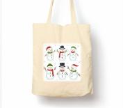 Snowman Party Christmas - Tote Bag, Natural Shopping Bag, Environmentally Friendly Eco Friendly