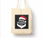 Merry Christmas Everyone Santa Style - Tote Bag, Natural Shopping Bag, Environmentally Friendly Eco Friendly