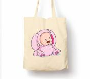 Cute Baby Animals Bunny Rabbit - Tote Bag, Natural Shopping Bag, Environmentally Friendly Eco Friendly