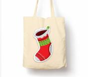 Christmas Stocking - Tote Bag, Natural Shopping Bag, Environmentally Friendly Eco Friendly