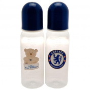 Chelsea F.C. 2pk Feeding Bottles Official Merchandise