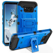 Galaxy S8 Case, BEZ® Heavy Duty Shockproof Case Cover [Blue] for Samsung Galaxy S8 - Kickstand Fuction, All-Around Shock Resistant -Blue