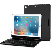 ProCase iPad 25cm 2017 Keyboard Case - 360 Degree Rotation Slim Smart Cover Stand Case with Built-in Wireless Bluetooth Keyboard for Apple iPad 25cm 2017, Also Fit iPad Air -Black