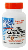 Doctor's Best - High Absorption Curcumin from Turmeric Root 500 mg. - 120 Capsules