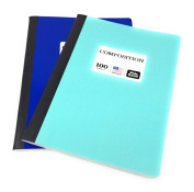 Norcom 100 Sheet Poly Composition Notebooks, Wide Ruled, Pack of 2