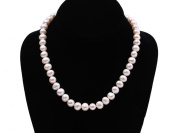 JYX AAA 9-10mm Round White Freshwater Pearl Necklace 18""
