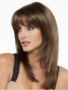 Aukmla Wigs for Women Medium Length Straight BOBO Head Wig African Fashion with Wigs Cup