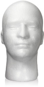 Male Polystyrene Styrofoam Mannequin Dummy Model Head Wig Hair Hat Display