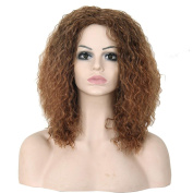 hunpta Density Natural Hairline Women Sprial Curls Kinky Curly Synthetic Lace Wig