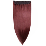 HAIR2HEART Clip In Hair Extensions 130g weight straight, 1 x black