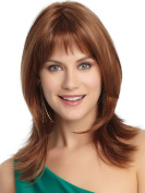 Brown Wig Layered Synthetic Wig Full Bangs for Women+Free Wig Cap