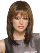 Women's Fashion Medium Straight Natural Full Wig Synthetic Hair Cosplay Party