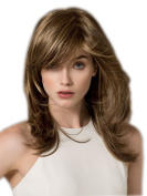 Women's Fashion Short Mix blonde Curly lady's Synthetic Hair Cosplay Wigs/wig+cap