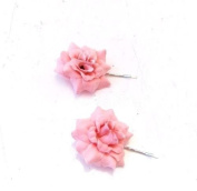 Starcrossed Boutique 2 x Blush Pink Rose Flower Hair Grips Clips Bridesmaid Bobby Pins Slides 3461