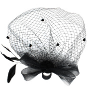 Andux Women's Fascinator Feather Flower Hair Clip Headwear Bridal headdress for Cocktail Party WSTS-01