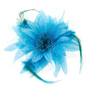DJHbuy Layered Flower Bead and Feathers Hair Beak Clip Brooch Corsage Bridal Fascinator