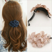 Women Hair Clip Flower Banana Barrette Ponytail Holder Hair Pin Claw 3Pcs