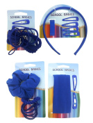 School Basics - 40 Piece Mixed Accessory Pack - School Colours - 4 Cards