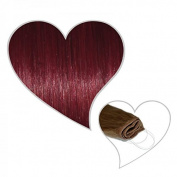 Easy Flip In Wine Red # 35 40 cm 90 g 100% Human Hair Extensions Your Hair Secret