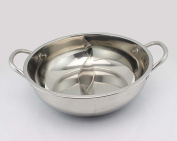 Stainless Steel Double-flavour Pot No Cover Two-flavour Pot Hot Pot Pans Huo Guo Party/ceremony