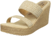 Sbicca Women's Vibe Wedge Sandal,Natural,11 B US