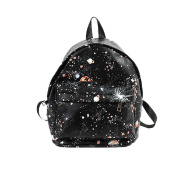 Backpack,TianranRT Artificial leather Women Fashion Star Universe Printing School Bags Teenage Girls Small Backpack