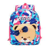 Masrin Funny Baby Boys Girls Kids Bear Pattern Animals Camouflage Backpack Fashion Toddler School Bag