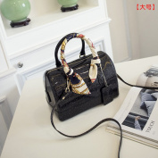 BUKUANG Spring And Summer Mini Jelly Pillow Bag Ladies Candy Colour Beach Hand Messenger Bag Bag Send Scarf,S