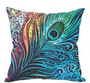 Pillow Cases ,IEason Clearance! Feather Sofa Bed Home Decor Pillow Case Cushion Cover