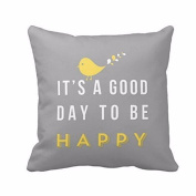 Pillow Cases ,IEason Clearance! Yellow Bird Letter Square Throw Pillow Case Cushion Cover Home Decor