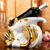 Wine rack elephant home jewellery creative wine cabinet wedding gifts resin crafts