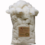 CERTIFIED ORGANIC Merino Felting Wool Roving. Ethically & Responsibly Sourced Spinning Fibre for Felting, Soap Making and Dryer Balls - 0.5kg Bag, White