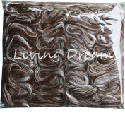 BABY ALPACA SILK Fibre Blend. Luxuriously Soft Combed Top Wool Roving for Spinning, Felting, Blending and other Fibre Crafts. Natural Dark Brown